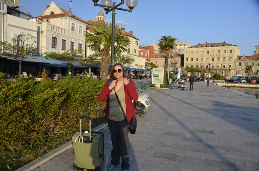 Arriving in Sibenik, fresh off the bus