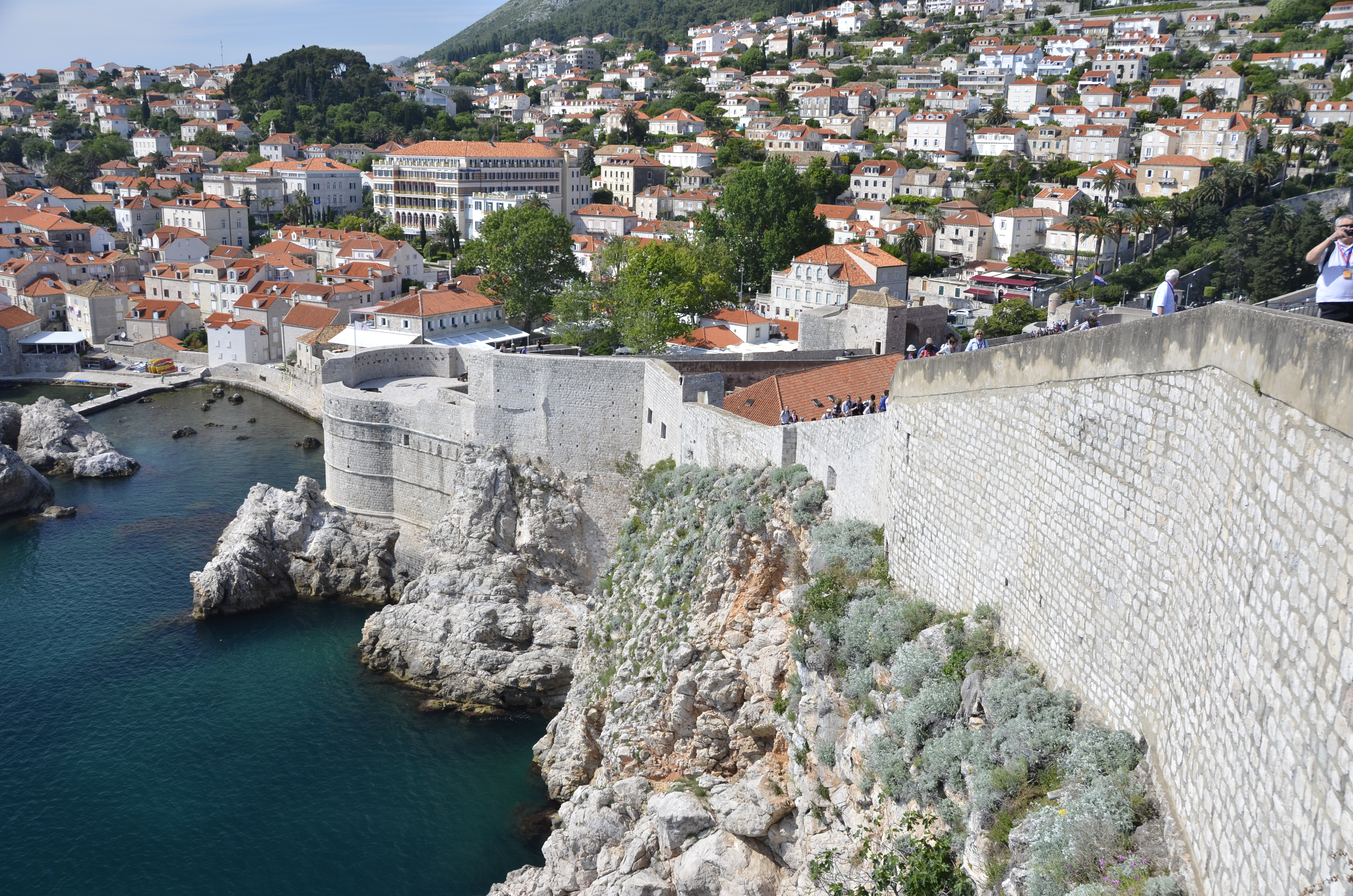 The walls of Dubrovnik surround the city. They are 1940 meters long (6365 feet).