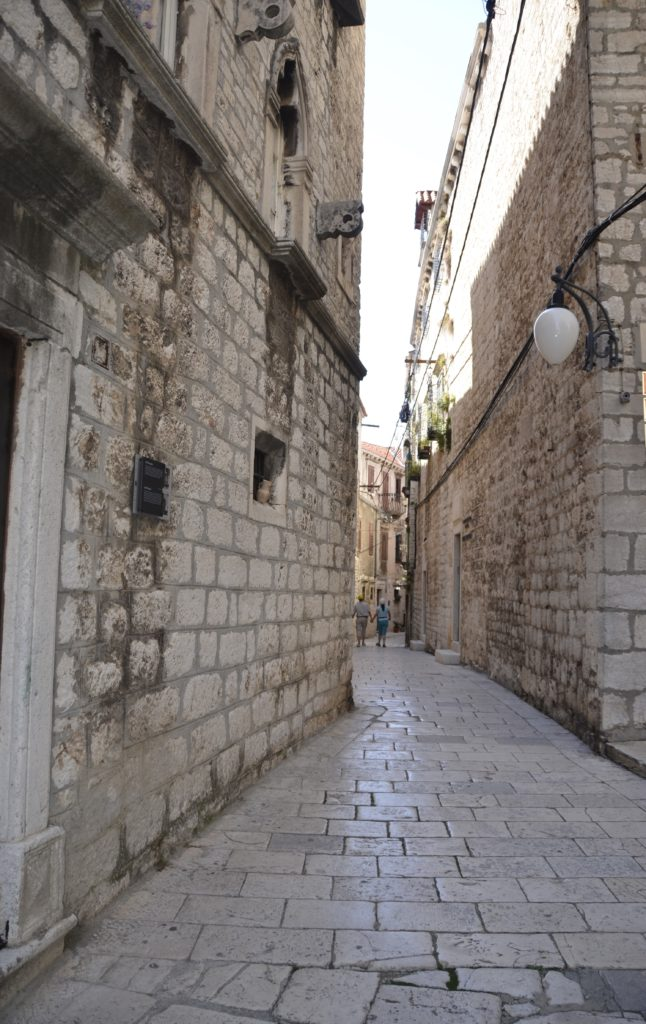 Stone slabs line the streets.