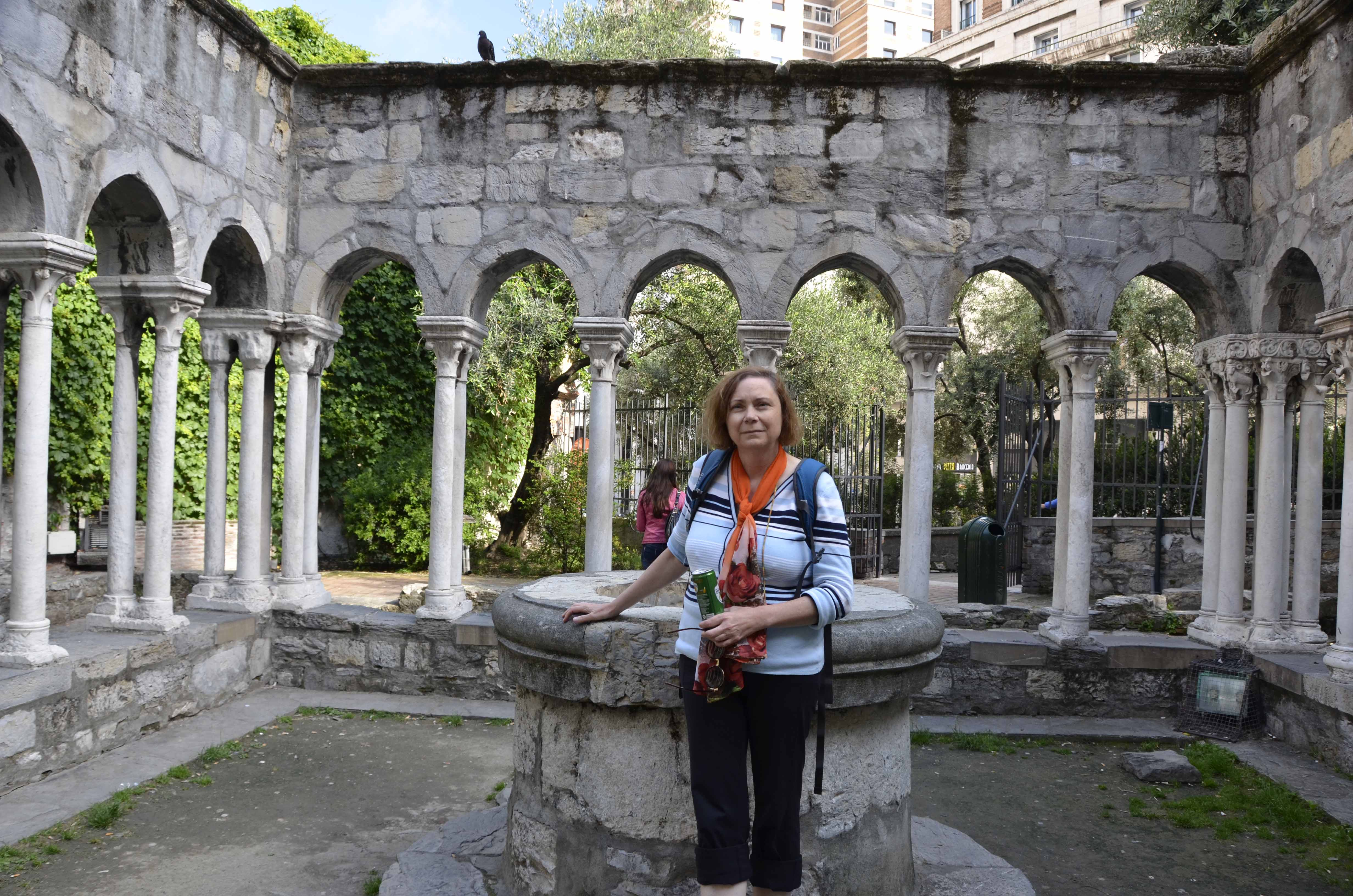 Sant'Andrea - a small garden remains of a convent that stood next to Christopher Columbus home.