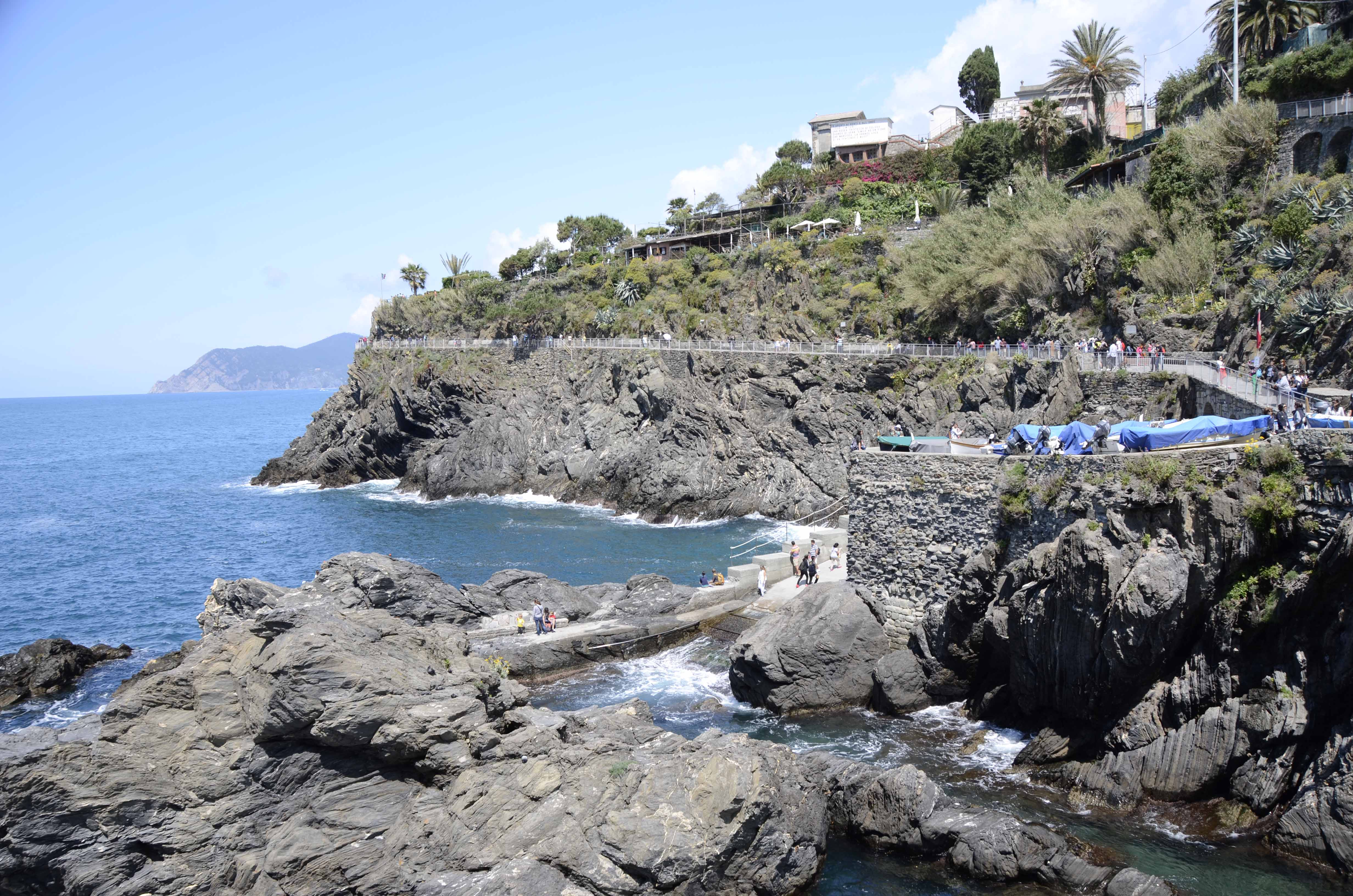 A rock slide had closed the trail from Manarola