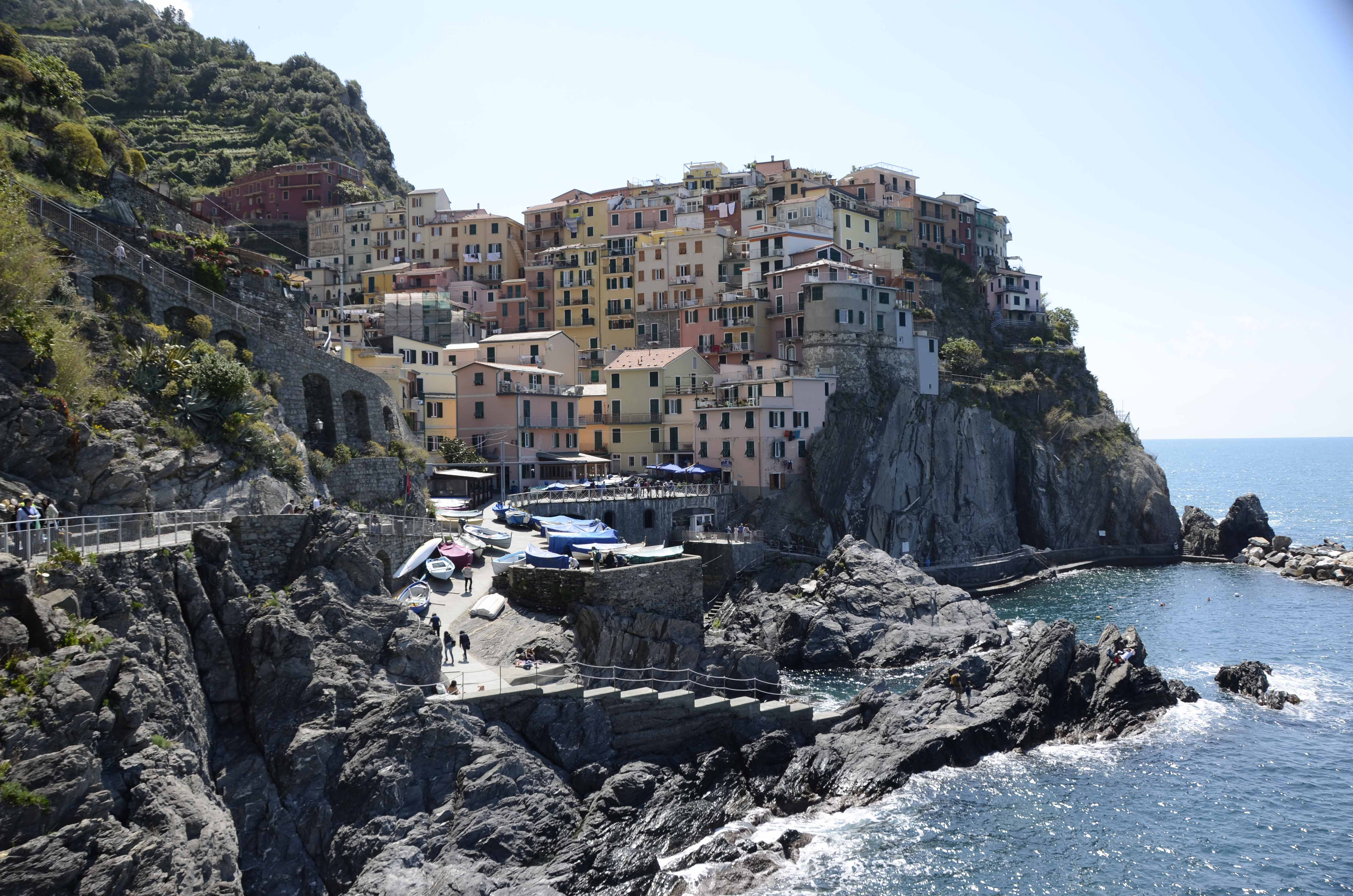 Manarola, registered as one of the most beauiful villages in Italy