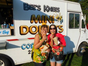 Put the donuts down?? Say what?! Me on left and my donut guzzling friend Cindy