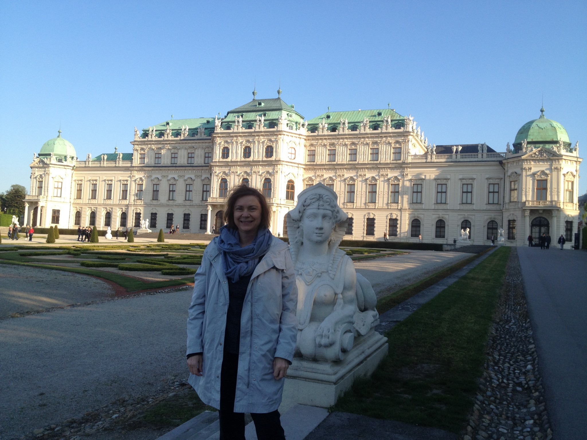 The grand Belvedere Palace