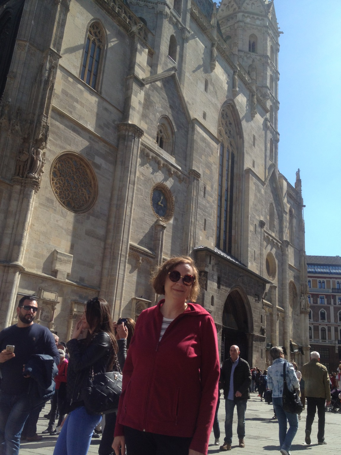 Adriane in front of St Stephen's cathedral