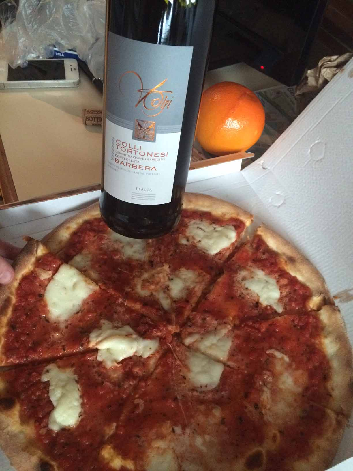 Mmmmm. Pizza and Chianti. The food was great!