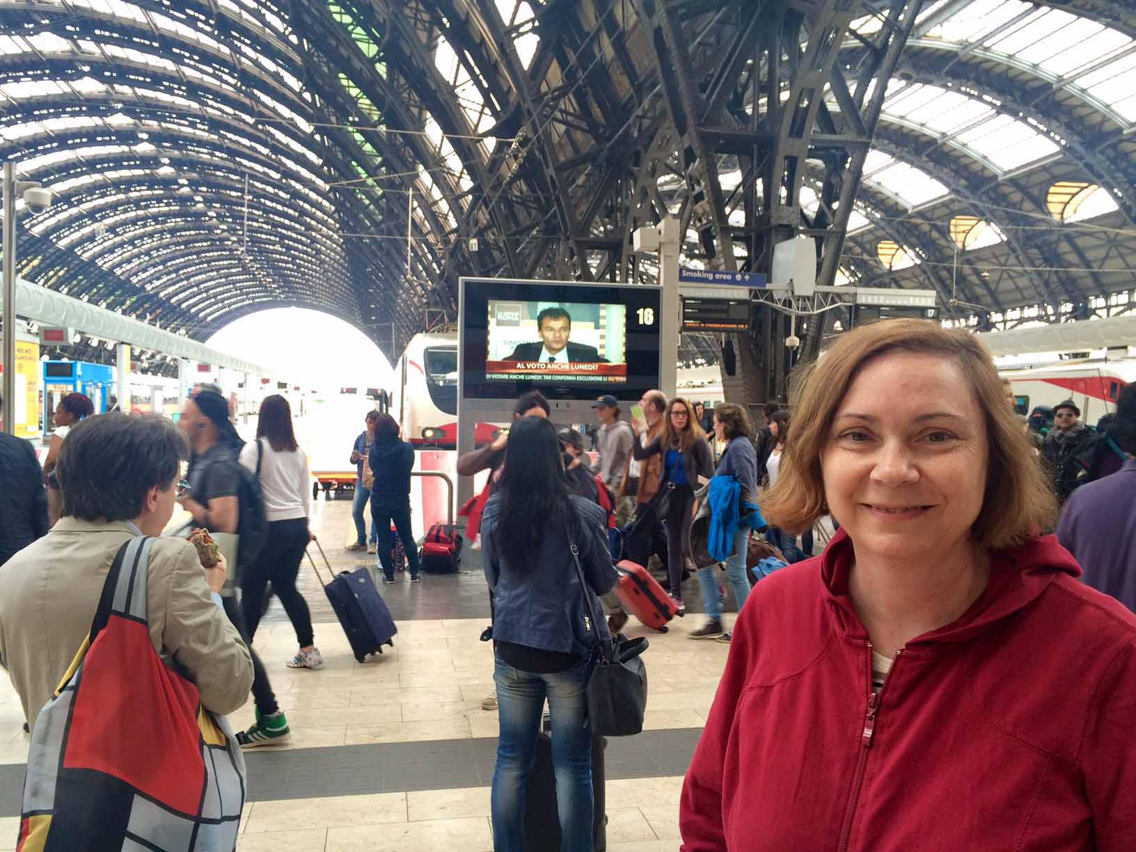 Catching trains in Italy requires speed and coordination
