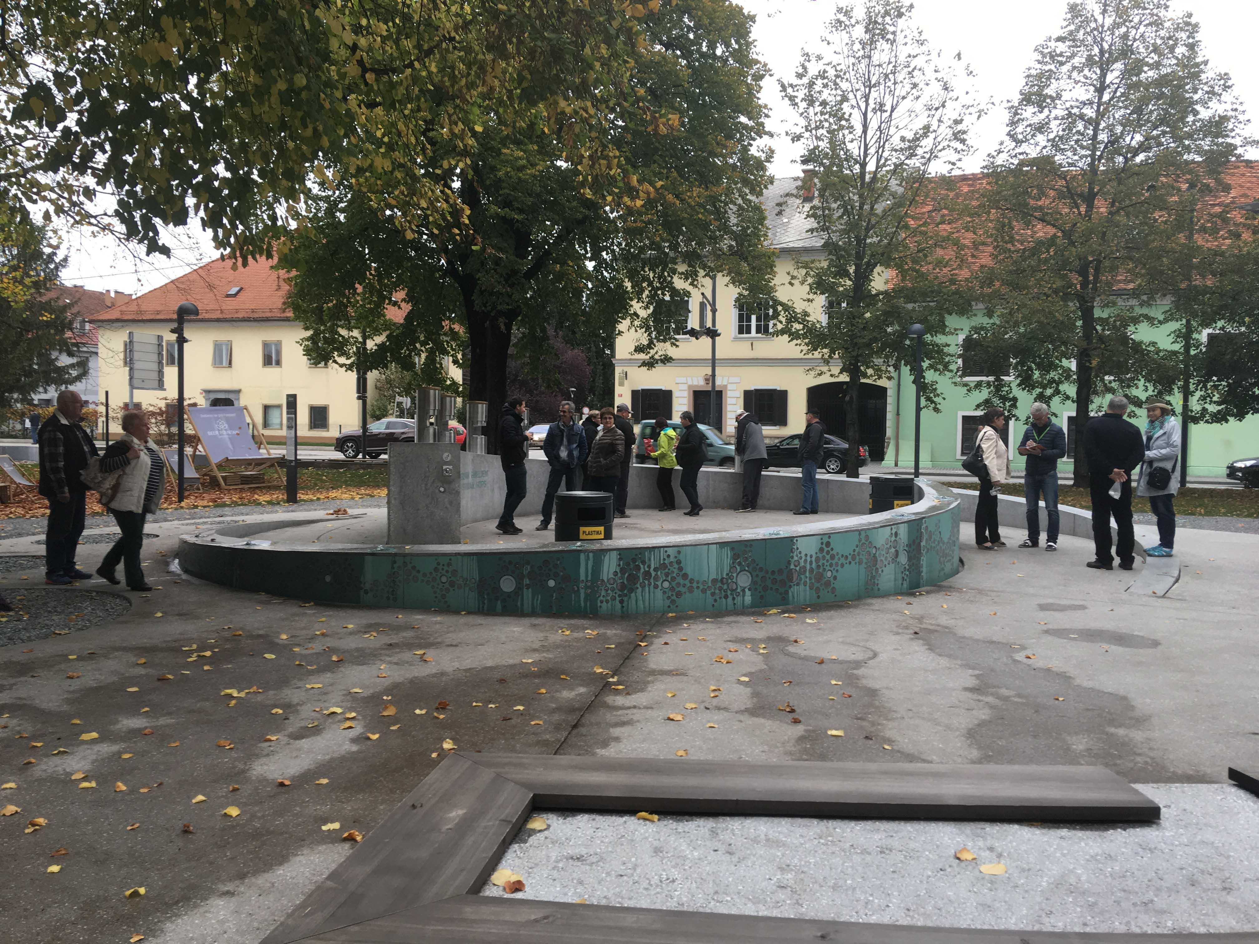 Zalec Fontana, slovenia, beer fountain